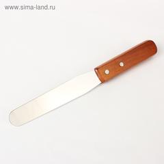 Лопатка-палетка с дерев.ручкой прямая 27*3,1*1.7см, раб.часть 15см*