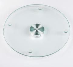 Подставка для торта вращающаяся стекло, d=32 см