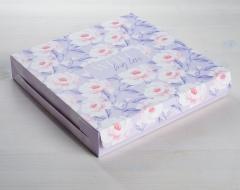 Упаковка для кондитерских изделий With love, 25 × 25 × 4.5 см