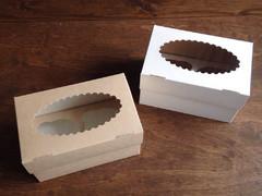 Коробка для 2 кап. с окном