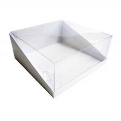 Коробка д/торта 22,5*22,5*10см с прозрачной крышкой