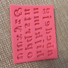 Трафарет английские буквы 9,5*6 см