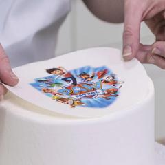 Печать на вафельной толстой бумаге А4