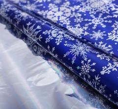 Плёнка упаковочная голография «Снежинки», 100 × 70 см