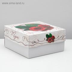 """""""Красные розы"""", 29,5 х 29,5 х 15 см"""