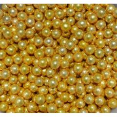 Посыпка шарики Decori Золотые 8мм 50гр.