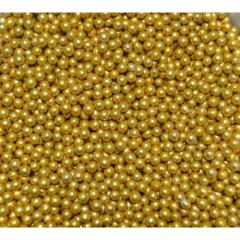 Посыпка шарики Decori Золотые 2мм 50гр.