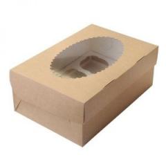 Коробка для 6 капкейков(с окном)