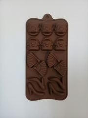 Форма д/шоколада Дамский набор 14 ячеек 21*11*1,5 см