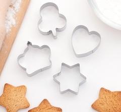 """Набор форм для вырезания печенья 8х8 см """"Сердце, звезда, корона"""", 4 шт"""