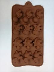 Форма д/шоколада 12 яч-к Дино 21 21*11*2 см