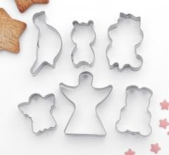 Набор форм д/вырез. печенья  7Х13 см Животные,ангелы