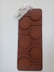 "Форма д/леденцов и шоколада, 6 ячеек 24х9,4х1,5 см ""Морозко"""