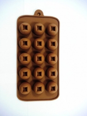 Форма д/шоколада Конфетки, 15 ячеек 22*10,5*1,5см