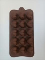 """Форма д/льда и шоколада """"Сердечки"""", 15ячеек, 20,5*10 см"""