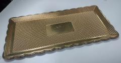 Поднос золотой 15х30 см