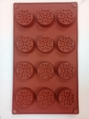 """Форма шоколада """"Узор"""", 12 ячеек"""