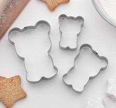 Набор форм д/вырез печенья 3 шт Мишка